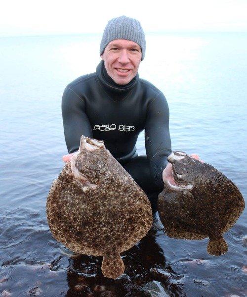 Pighvar fanget af FransBoeriis ved Det sydfynske øhav