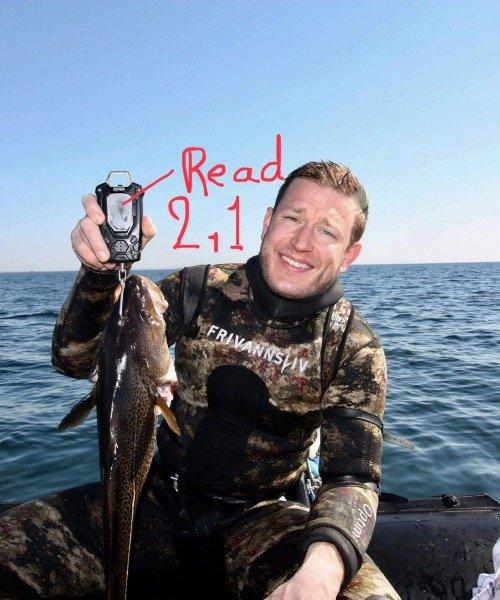 Første openwater – Torsk fanget af fangel ved Ryggen Øresund om dagen