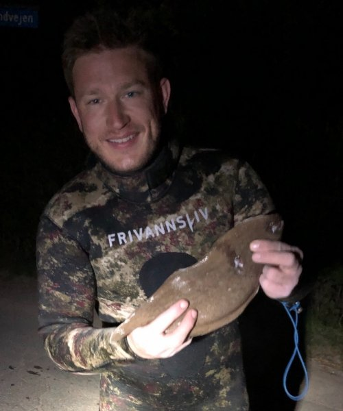 Ca 2m – Tunge fanget af fangel ved N-Sj Nordkyst om natten