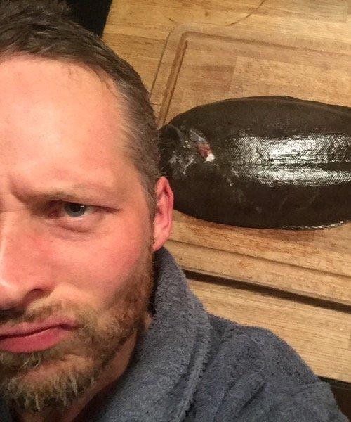 Tunge fanget af SuneRahbek ved Norddjurs om natten
