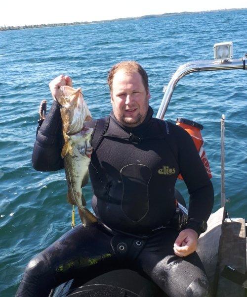 Vrag torsk – Torsk fanget af Klaus Mulvad ved Lunkebugten  om dagen