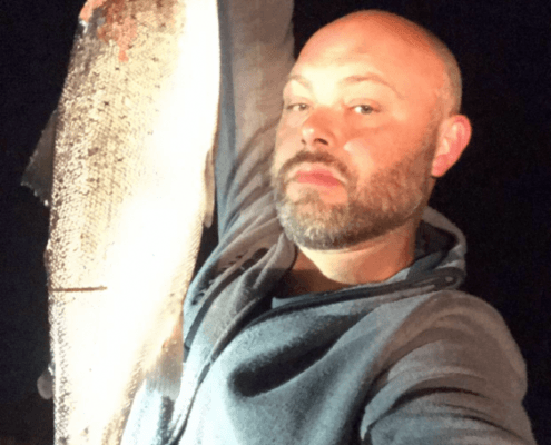 Super dyk – Havørred fanget af fiskerphilip ved Væggerløse  om natten