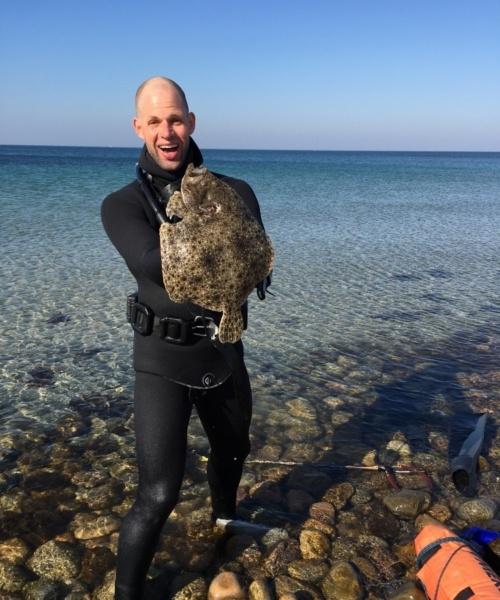 Pighvar fanget af Asger ved Sjællands nordkyst