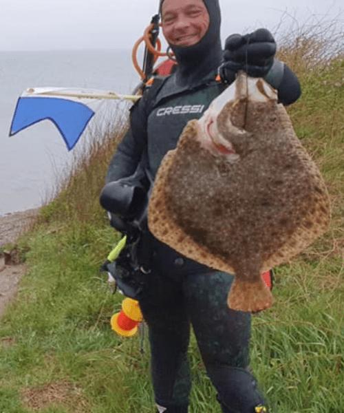 Skøn tur – Pighvar fanget af Peter Olsen ved Langeland Syd