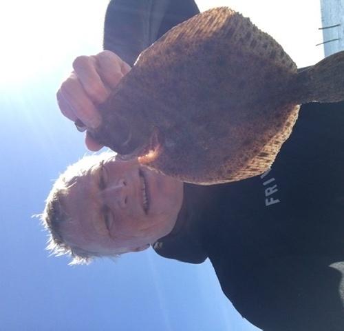 Hårdt arbejde – Pighvar fanget af knud-munk ved Langeland