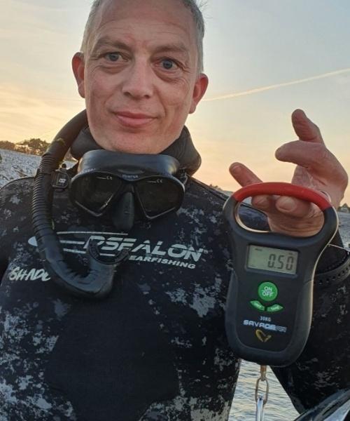 Første skud – Hornfisk fanget af JLC73 ved Kobberhage