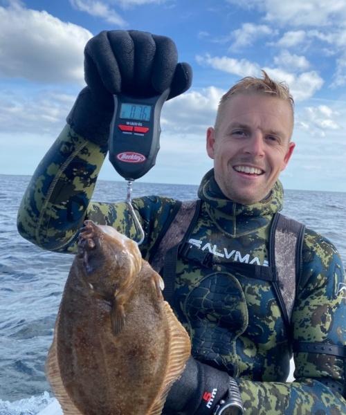 Skrubbe fanget af Wejnold ved Øresund