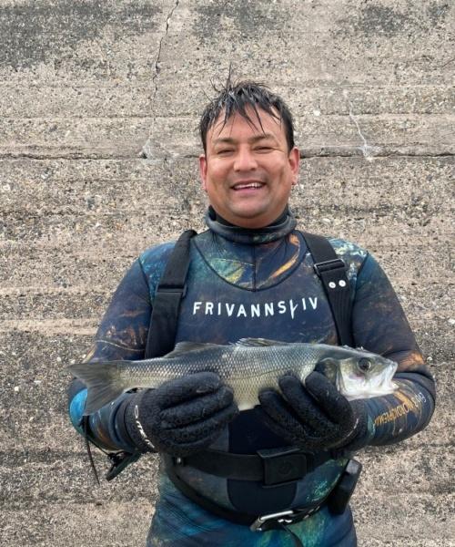 Havbars fanget af jesper kondo ved Vesterhavet