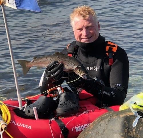 Fed ninja – Havørred fanget af knud-munk ved Ærø