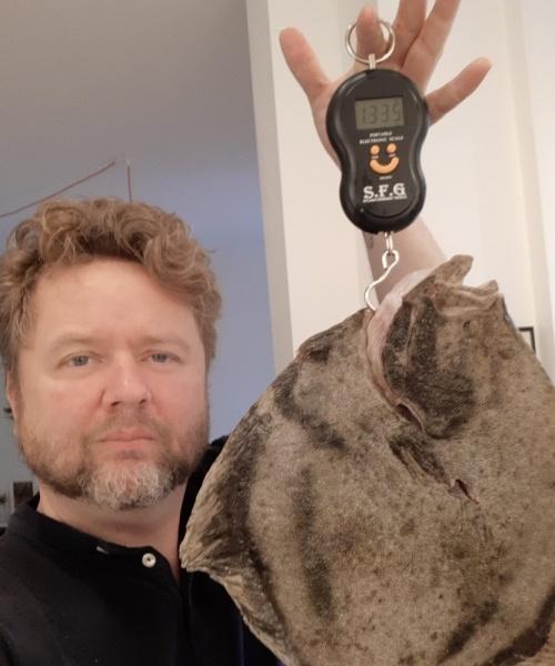 Roligt aftendyk – Pighvar fanget af Jesper Nordin ved Nyborg