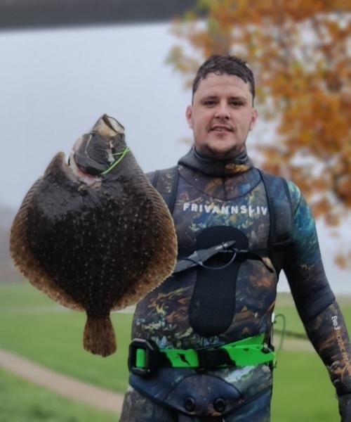 Skrubbe jagt – Pighvar fanget af samuel-bering ved Svendborg