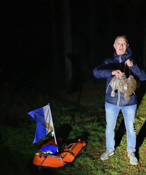 Pålandsvind! – Skrubbe fanget af JLC73 ved Grenå Strand