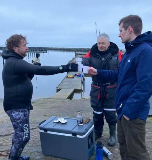 Godt nytår – Hummer fanget af MK.Havbasserne ved Limfjorden