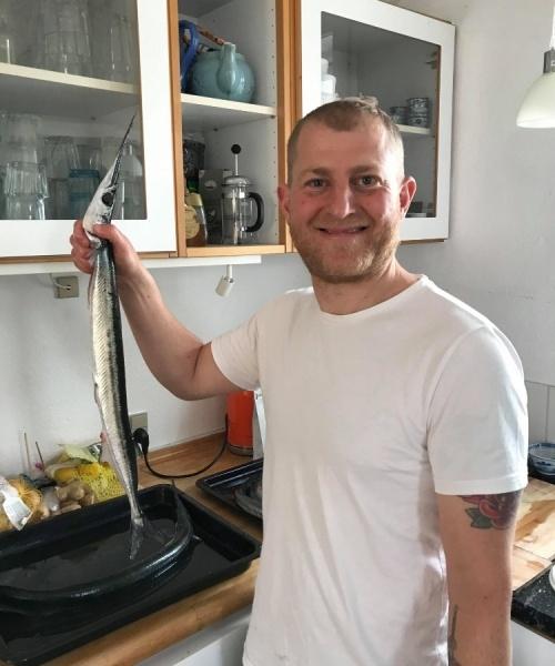 Håndfanget – Hornfisk fanget af Bundtrawleren ved bornholm