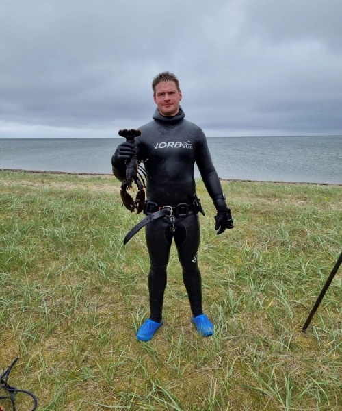 Blæsende omgang – Hummer fanget af AndreasToft ved Limfjorden