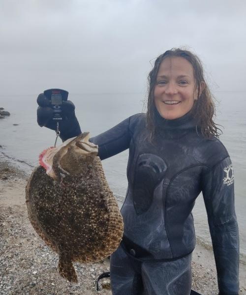 Pighvar fanget af Laura ved Tranekær fyr