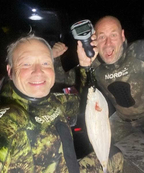 Slethvarre medstørrelse – Slethvarre fanget af frankgellert ved Nordkysten