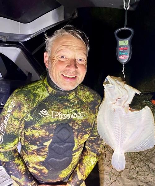 Pighvar fanget af frankgellert ved Nordkysten