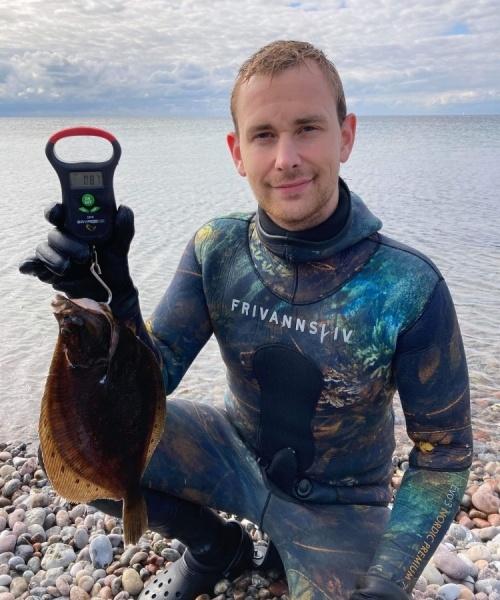 Kredsjagt – Rødspætte fanget af matias-iskov ved Sydfyn